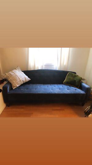 Blue velvet convertible sofa for Sale in Oakland, CA