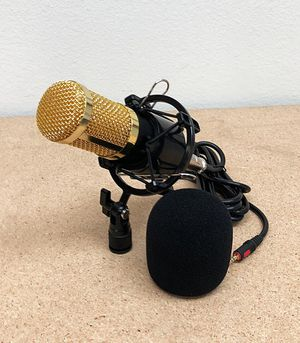(NEW) $25 BM800 Condenser Microphone Kit Shock Mount Record Mic Anti-Wind Cap Studio Set for Sale in South El Monte, CA