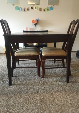 dark oak dining table for Sale in Westerville, OH