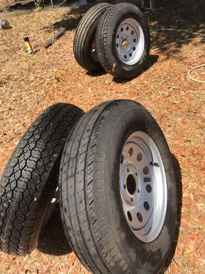 Trailer tires st 205/75D15. $85 each or $300 all for Sale in Bartow, FL