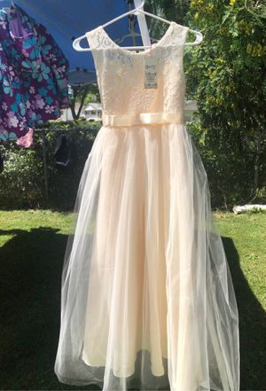 Flower girl dress size 12 brand New never used for Sale in Northbrook, IL