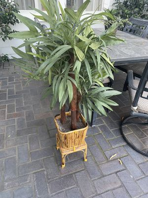 Fake plant Bamboo style pot indoor / Outdoor for Sale in Whittier, CA