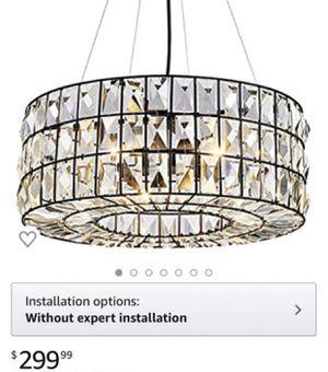 "Saint Mossi Crystal Chandelier Lighting Drum Chandelier Crystal-Encrusted Drum Lampshade Width 20"" inch for Sale in Rancho Cucamonga, CA"