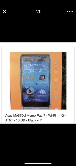 """Asus 7"""" tablet for Sale in Franklin, TN"""