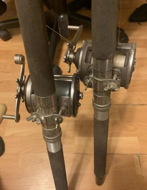 2 fishing rods with reels for Sale in Carson, CA