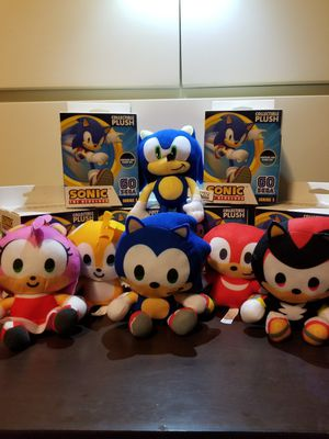 Go Sonic compete set!!! With both rare plushies for Sale in Galena Park, TX