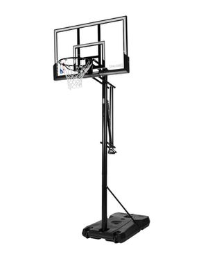 """SPALDING ACCUGLIDE™ 54"""" ACRYLIC PORTABLE BASKETBALL HOOP New Open Box for Sale in Austin, TX"""