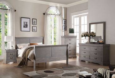 Grey Louis Philippe Bedroom Set Bed for Sale in Seattle,  WA