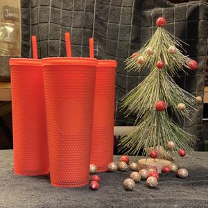 New Starbucks Neon Coral / Red Studded Tumbler for Sale in Fontana, CA