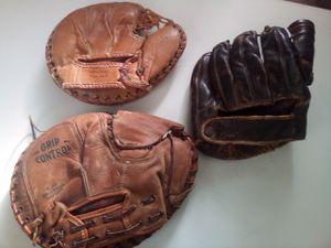 Three vintage baseball gloves sold all together for Sale in Las Vegas, NV