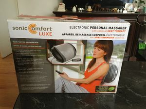 Sonic Comfort Luxe ,Electronic Personal Manager with optional Heat Therapy. Very rare used. With car adapter. for Sale in Elmhurst, IL