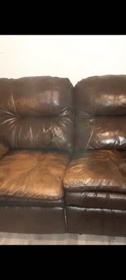 Faux Leather Super Comfy Recliner Couch for Sale in Sanford,  FL