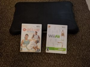 WII BALANCE BOARD WITH 2 GAMES for Sale in Glendale, AZ