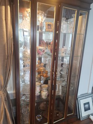 China mirrored hutch cabinet display armoire for Sale in Snohomish, WA