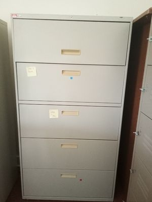 Filing cabinets (3) - no key for Sale in Fort Pierce, FL