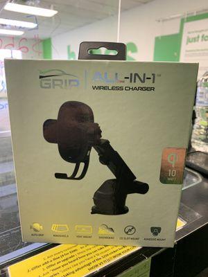GRIP all in 1 wireless charging phone mount for Sale in Abilene, TX