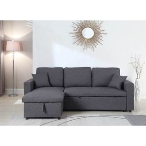 Linen Pull Out Sectional Sofa Bed In Gray Color for Sale in Monterey Park, CA