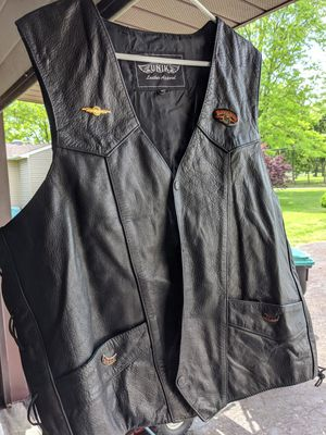 New men's leather Motorcycle Vest for Sale in Upper Gwynedd, PA