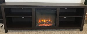 BRAND NEW IN BOX Walker Edison 70 inch TV Stand with Electric Fireplace (Espresso) for Sale in Fresno, CA