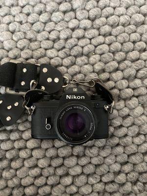 Nikon EM 35MM Film SLR Camera Nikon Lens Series E 50mm 1:18 for Sale in Portland, OR