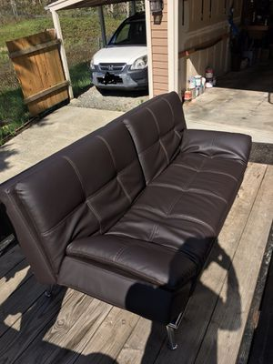 Leather futon powered couch for Sale in Redmond, WA