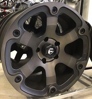 "NEW! SET OF FIVE 18"" Fuel Beast Rims Wheels Matte Black Dark Tint Bronze 5x5 Jeep Wrangler XD Moto for Sale in Tampa, FL"