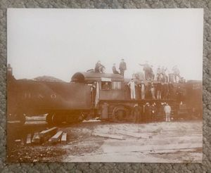 """vintage picture of Antique B&O Railroad Train Scene, Approx 14""""11"""" GC for Sale for sale  Longs, SC"""