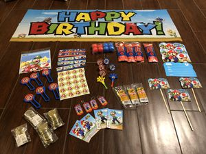 Super Mario Party Supplies ( Don't forget to check out my other awesome listings!) for Sale in Dallas, TX