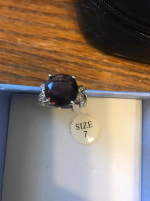 Purple stone stealing silver ring for Sale in York, PA