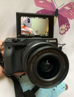 Canon EOS M3 Mirrorless Digital Camera Black W/ Lens (Good Condition) for Sale in Marietta, GA
