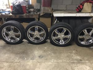 22 inch rims and new tires for Sale in Atlanta, GA
