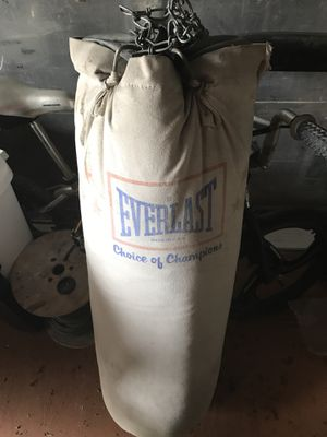Everlast punching bag for Sale in Worcester, MA