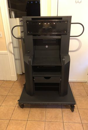 Moving TV stand holds TV up to 100 inches for Sale in Boston, MA