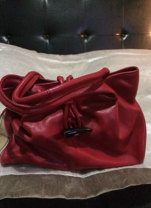 Burberry Red Leather and Traditional Plaid Hand Bag for Sale in Nashville, TN