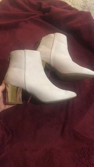 light pink suede boots with gold heel. size 7.5 for Sale in San Diego, CA