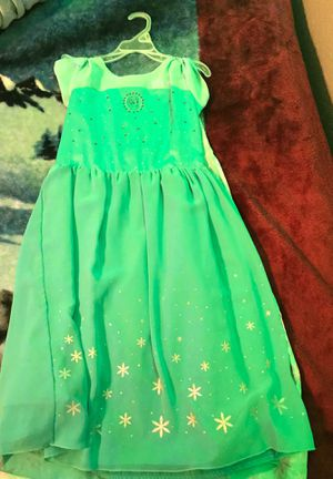Disney Elsa dress with an cape on the back for Sale in San Antonio, TX