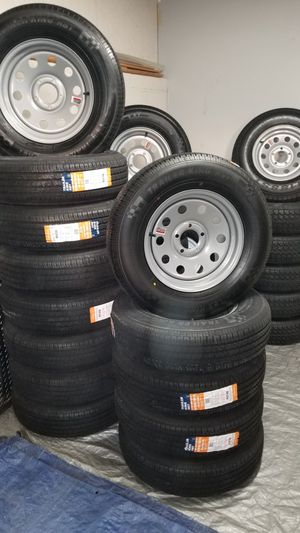 NEW TRAILER TIRES AND WHEELS $70 AND UP for Sale in Douglasville, GA