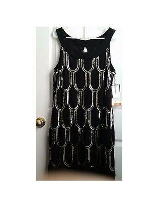 SCARLETT SHORT SEQUENCE BLACK DRESS SIZE 16 for Sale in Attleboro, MA