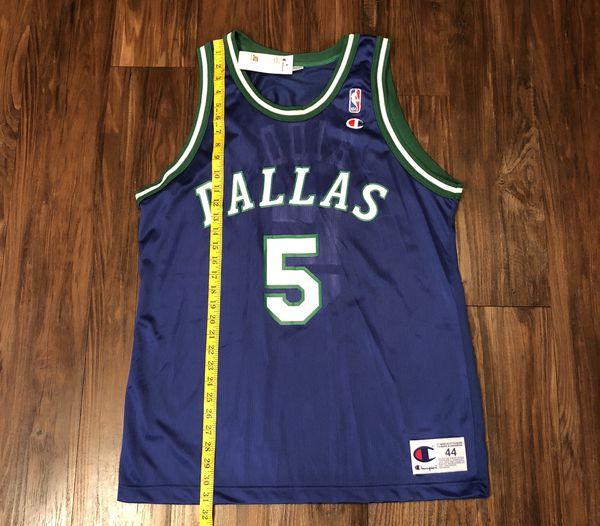 46cd30102 Vintage 90s Jason Kidd Dallas Mavericks Jersey Retro Throwback Sz 44 ...