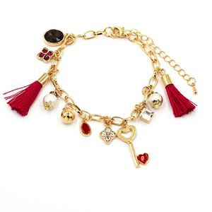 Fashion red heart shaped key tassel bracelet for Sale in Redwood City, CA