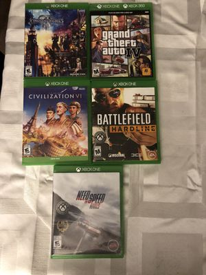 5 pre-Owned Xbox One Games for Sale in Highlands Ranch, CO