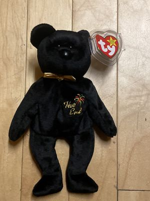 """TY Beanie Baby """"The End"""" 1999 Black Bear with tags mint retired. for Sale in Lakewood, CA"""