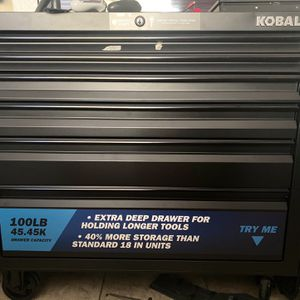 Kobalt 43.6 Tool Box 6 Drawer for Sale in Spring Valley, CA