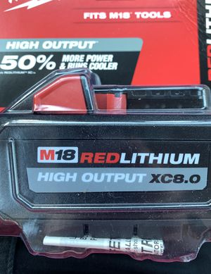 Milwaukee m18 XC HighOutput battery for Sale in Vero Beach, FL