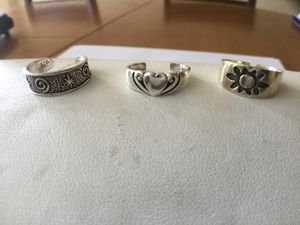 3 piece sterling toe ring package for Sale in Cumberland, RI