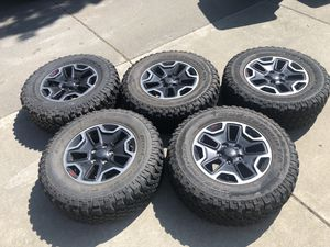 Jeep Wrangler rubicon hard rock wheels and tires for Sale in Fairfield, CA