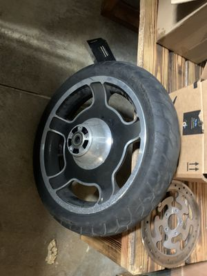 Mag 19 wheel and black powder coated forks and covers for Sale in Santa Clara, CA