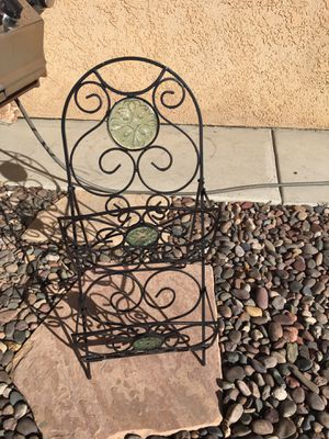 "Glass decorated metal magazine rack 12""W 30""H for Sale in Westminster, CA"