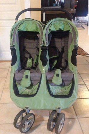 Baby jogger city mini double stroller - green/gray for Sale in Denver, CO