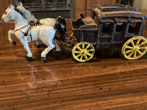 Cast iron stage coach for Sale in Halifax, PA
